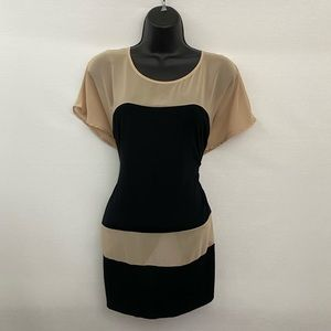 West Kei Short Sleeve Pullover Blouse Size M O-1